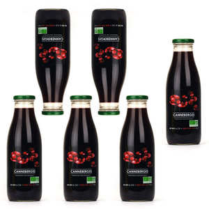 Jus Bio & Cie - Pure organic cranberry juice 5+1 free of charge