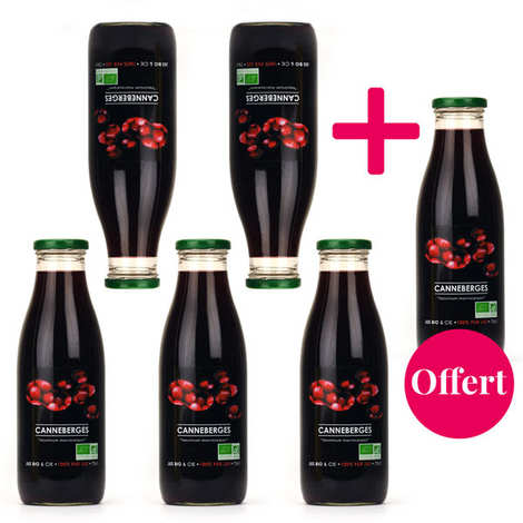 Jus Bio & Cie - Pur jus de cranberry bio 5+1 offert - canneberge