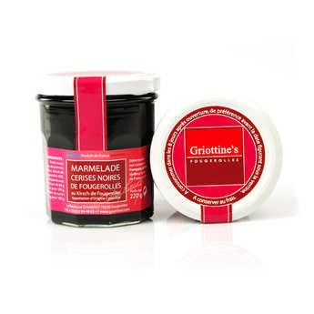 marmelade cerises noires de fougerolles au kirsch de fougerolles aoc grandes distilleries. Black Bedroom Furniture Sets. Home Design Ideas