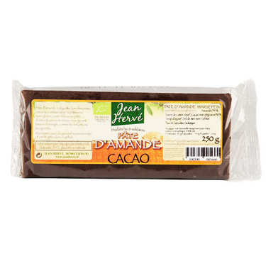 Organic almond paste with cocoa