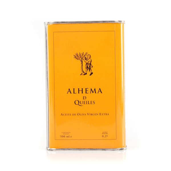 Huile d'olive bio premium d'Espagne Alhema de Queiles