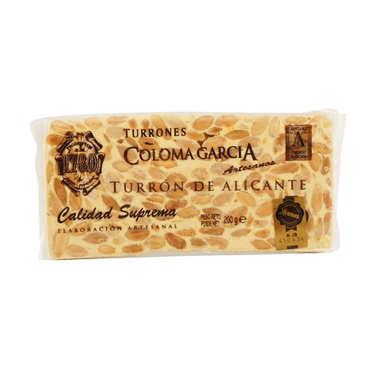 Touron artisanal d'Alicante (Turrón de calidad suprema)