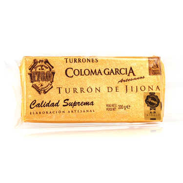 Touron/Turrón de Jijona aux amandes Marcona (70%)