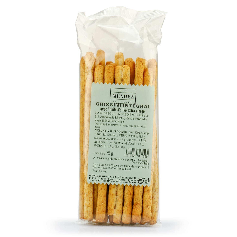 Palillos (bâtonnets) au blé intégral