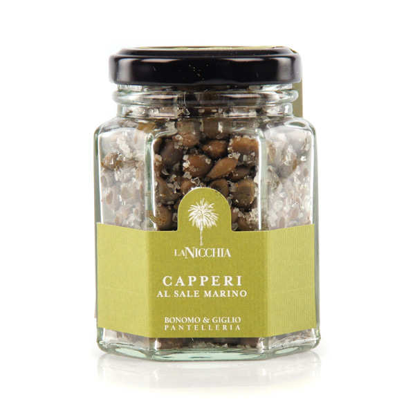 Italian Capers in Sea Salt - small jar