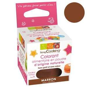 ScrapCooking ® - Colorant alimentaire origine naturelle - Marron
