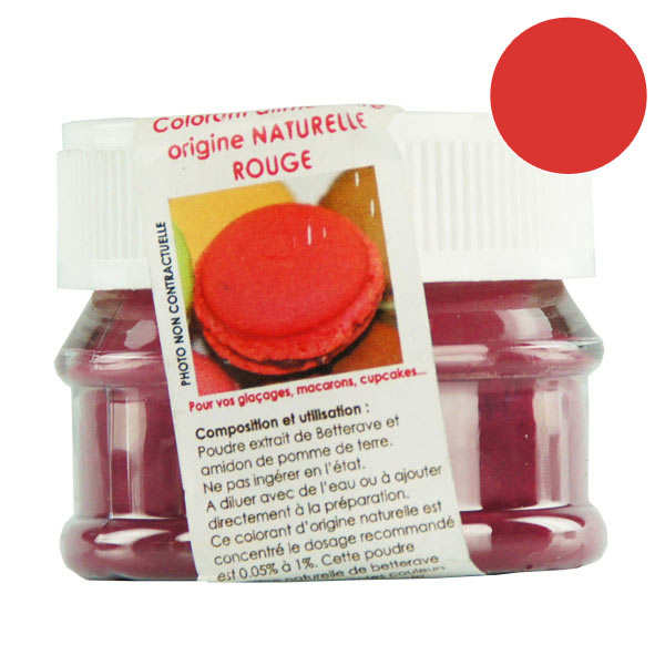 Naturally-sourced red food colouring