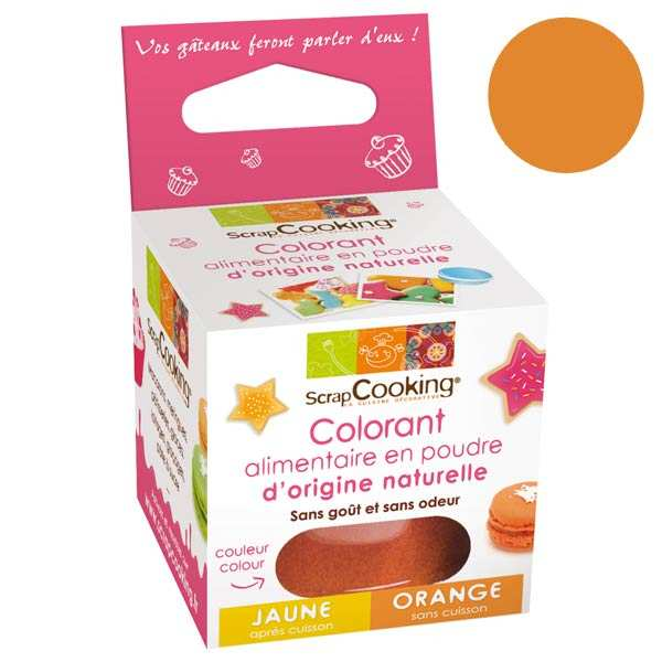 Colorant alimentaire origine naturelle - orange