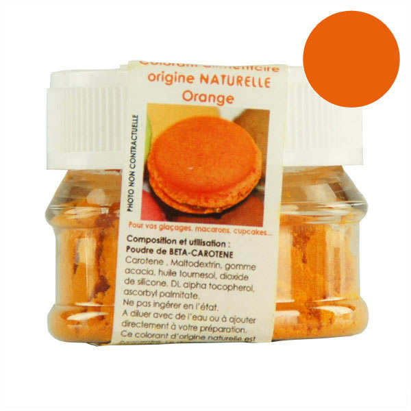 Naturally-sourced orange food colouring