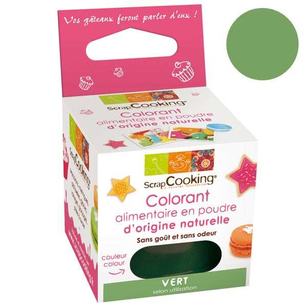 scrapcooking colorant alimentaire origine naturelle vert - Colorant Alimentaire Fluo