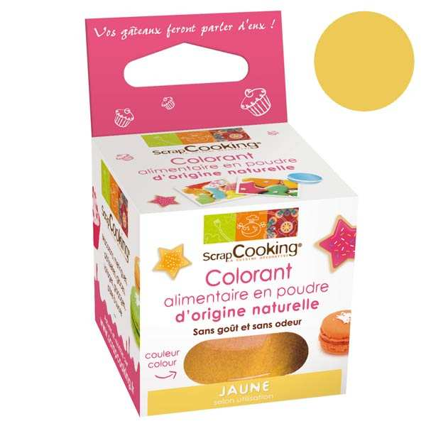 Colorant alimentaire origine naturelle - jaune