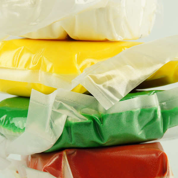 Yellow ready-roll icing