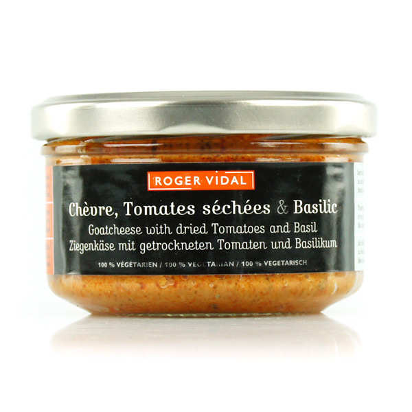Goat's Cheese Spread with Dried Tomates & Basil