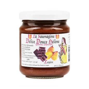 La Sauvagine - Confiture de poire au chocolat Valrhona Douce Hélène