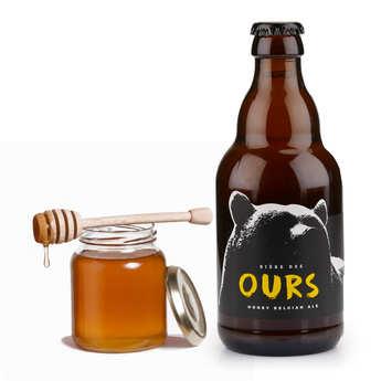 Brasserie La Binchoise - Bière des Ours - Bière Belge aromatisée au miel - 8,5%