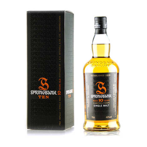 Springbank distilleries - Whisky Springbank 10 ans - Campbeltown Single Malt - 46%