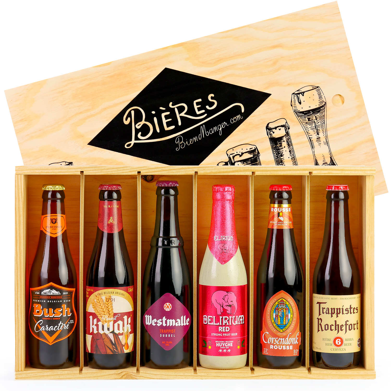 Caisse bois de 6 bières de caractère