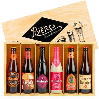 BienManger paniers garnis - Caisse bois de 6 bières de caractère