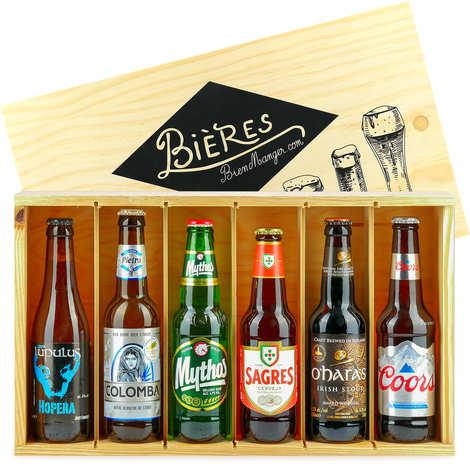 """BienManger paniers garnis - Caisse de 6 bières """"Tour du monde"""""""