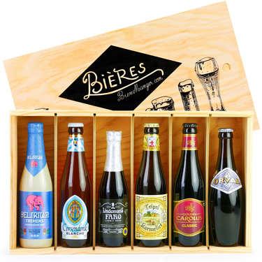 Coffret cadeau de 6 bières belges d'exception