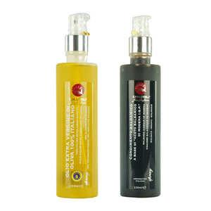 La Collina Toscana - Duo bio de sprays de vinaigre balsamique et huile d'olive
