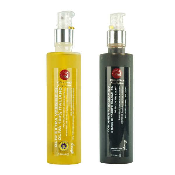 Duo bio de sprays de vinaigre balsamique et huile d'olive