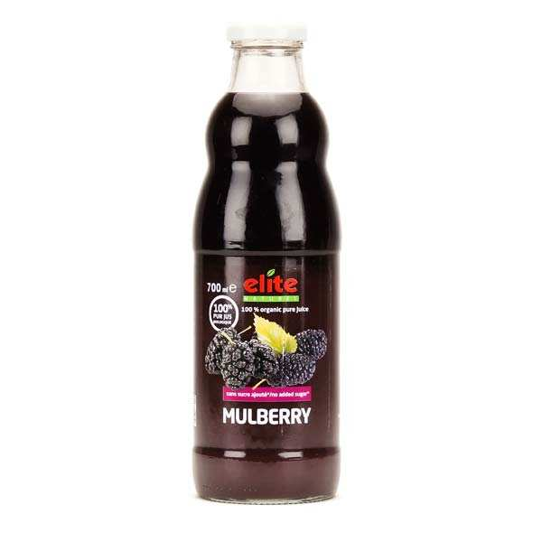 Pure organic black mulberry juice