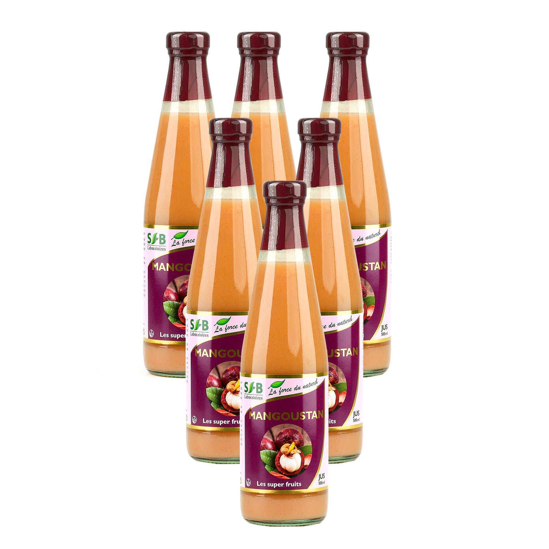 Pur jus de Mangoustan Bio - le lot de 5 + 1 offert