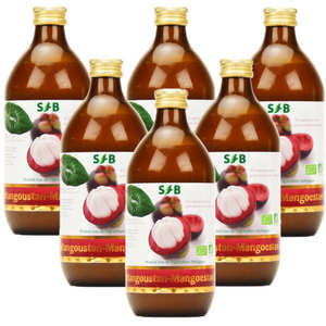 - Pure organic Mangoustan juice -  6 pack (1 for free)
