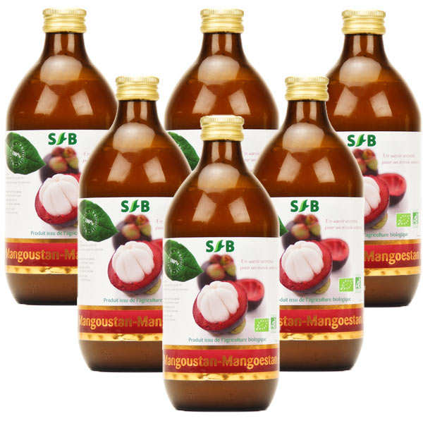 Pure organic Mangoustan juice -  6 pack (1 for free)