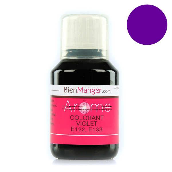 Colorant alimentaire violet E122, E133 - Liquide