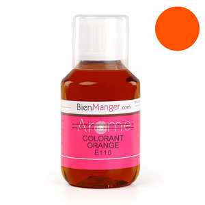 BienManger aromes&colorants - Colorant alimentaire orange E110 - Liquide