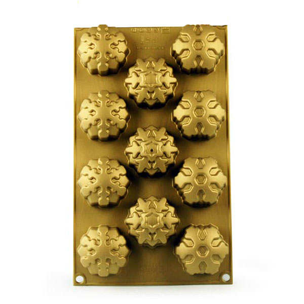 Silicone snowflake moulds
