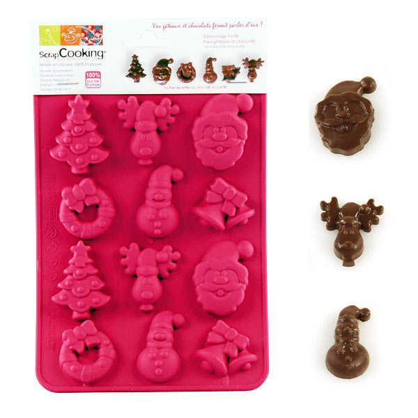 Moule en silicone - chocolats de noël - le moule