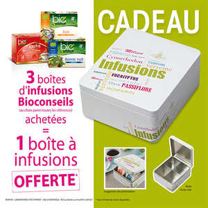 Bio Conseils - 3 infusions + 1 boite métal offerte
