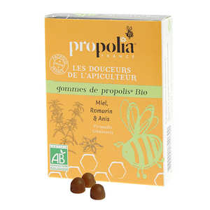 Propolia - Gommes de Propolis Bio - Miel et romarin bio, anis