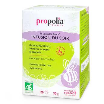 Propolia - Infusion Bio - Plantes et Propolis - Détente et nuit