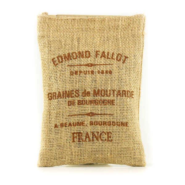 Graines de Moutarde de Bourgogne - Sac toile de jute