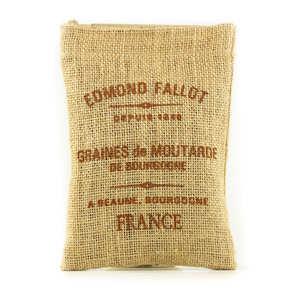Fallot - Graines de Moutarde de Bourgogne - Sac toile de jute