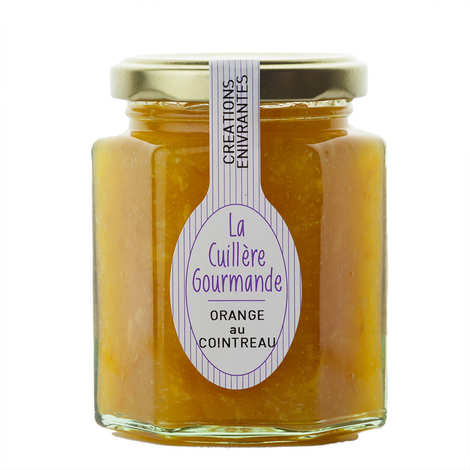 La Cuillère Gourmande - Confiture à l'ancienne d'orange au Cointreau