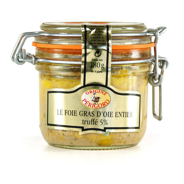 Foie gras d'oie entier truffé 5%
