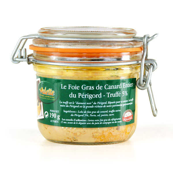 Whole Duck Foie Gras from Périgord with Truffles 5%