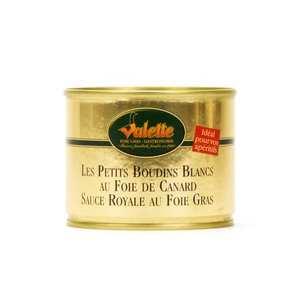 Valette - Les Petits Boudins Blancs au Foie de Canard Sauce Royale au Foie Gras