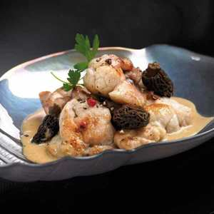 Valette - Braised Calf Sweetbreads with Truffle & Morel Sauce
