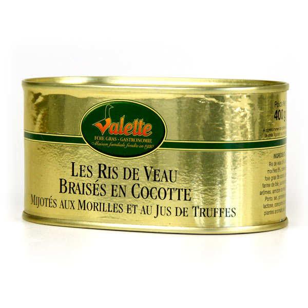 Ris de Veau Braisés en Cocotte Mijotés aux Morilles et Jus de Truffes
