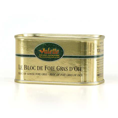 Valette - Le bloc de foie gras d'oie