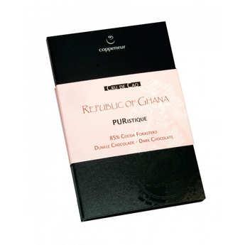 Coppeneur - Tablette de chocolat noir  85% - Puristique - Origine Ghana - Bio