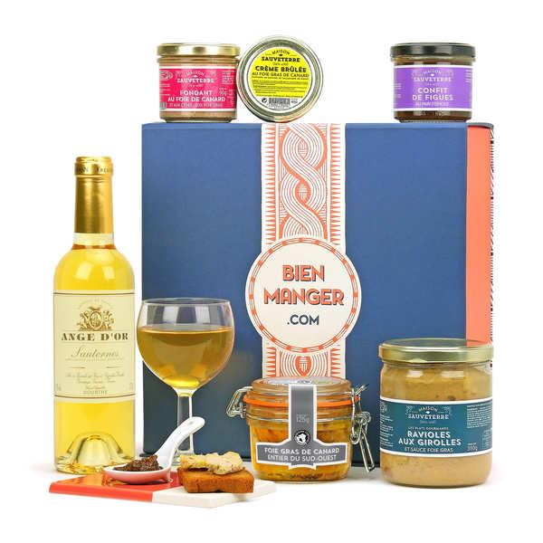 coffret cadeau foie gras gourmand bienmanger paniers garnis. Black Bedroom Furniture Sets. Home Design Ideas