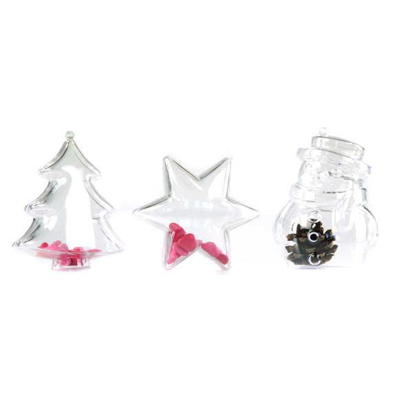 Décoration de Noël transparente à garnir - Etoile