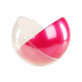 - Boule géante à garnir diamètre 29cm transparente et rose